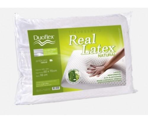 Travesseiro Real Látex Médio Duoflex